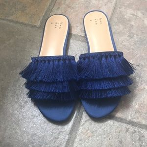 A New Day Blue Tassel Sandal